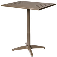 BFM Seating PHH2432BZT Hampton 24 inch x 32 inch Bronze Aluminum Bar Height Table