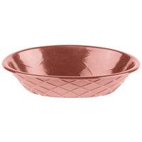 HS Inc. HS1048 9 inch x 5 1/2 inch x 2 inch Paprika Polyethylene Oval Weave Basket - 24/Case