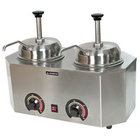 Paragon 2029B Pro-Deluxe Dual 3 Qt. Warmer with 2 Spouts - 120V, 1000W