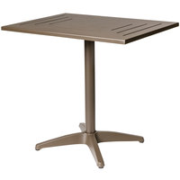 BFM Seating PHH2432BZ Hampton 24 inch x 32 inch Bronze Aluminum Table