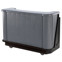 Cambro BAR650420 Granite Gray and Black Cambar 67 inch Portable Bar with 7-Bottle Speed Rail