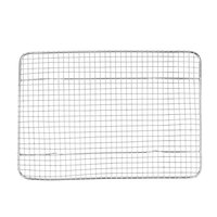 8 1/2 inch x 12 inch One-Fourth Size Footed Cooling Rack for Bun / Sheet Pan