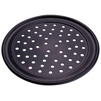 American Metalcraft PHCTP19 19 inch Perforated Hard Coat Anodized Aluminum Wide Rim Pizza Pan