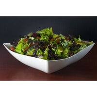 Fineline Wavetrends 132-WH White Plastic Serving Bowl 32 oz. - 50 / Case