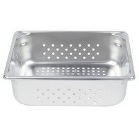 Vollrath 30243 Super Pan V® 1/2 Size Anti-Jam Stainless Steel Perforated Steam Table / Hotel Pan - 4 inch Deep