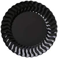 Fineline Flairware 206-BK 6 inch Black Customizable Plastic Plate - 180/Case