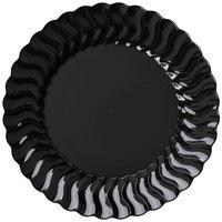 Fineline Flairware 206-BK 6 inch Black Plastic Plate - 180 / Case