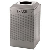 Rubbermaid FGDCR24TSM Silhouettes Silver Metallic Designer Recycling Receptacle - Trash 29 Gallon