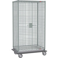 Metro SEC56LCQ Heavy Duty QwikSLOT Mobile Standard Duty Wire Security Cabinet 65 inch x 27 inch x 68 inch