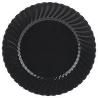 WNA Comet Classicware EcoSense 10 1/4 inch Biodegradable Black Plastic Plate - 18/Pack