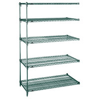Metro 5AA557K3 Stationary Super Erecta Adjustable 2 Series Metroseal 3 Wire Shelving Add On Unit - 24 inch x 48 inch x 74 inch
