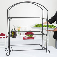 American Metalcraft IS13 Ironworks Three-Tier Rectangular Display Stand