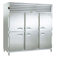 Traulsen RSL332NUT-HHS Stainless Steel 69.5 Cu. Ft. Three Section Half Door Reach In Freezer (-20 Fahrenheit) - Specification Line