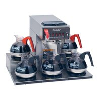 Bunn CRTF5-35 Automatic Coffee Brewer with 5 Warmers and Stainless Steel Funnel - 120/240V (Bunn 13250.0025)