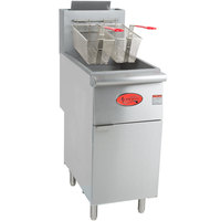 Avantco FF300 Natural Gas 40 lb. Stainless Steel Floor Fryer