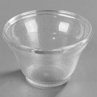 Carlisle 4393707 Clear Pebbled Plastic Tumbler 5.5 oz. Low Profile - 72/Case