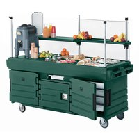 Cambro CamKiosk KVC854519 Green Vending Cart with 4 Pan Wells