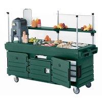 Cambro KVC854519 CamKiosk Green Customizable Vending Cart with 4 Pan Wells