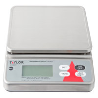 Taylor TE10SSW 10 lb. Waterproof Digital Portion Control Scale