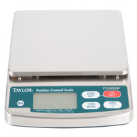 Taylor TE10SSW 10 lb. Waterproof Digital Portion Control Scale for Dry and Liquid Measuring