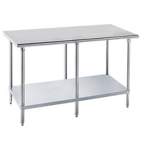 Advance Tabco GLG-249 24 inch x 108 inch 14 Gauge Stainless Steel Work Table with Galvanized Undershelf