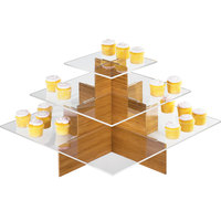 Cal-Mil 1284-60 Bamboo Cupcake Display - 24 inch x 24 inch x 14 1/2 inch
