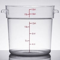 18 Qt. Clear Round Food Storage Container