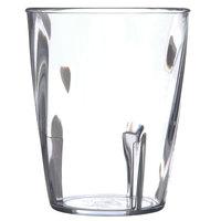 Carlisle 4366407 Swirl 9 oz. Clear Polycarbonate Short Tumbler - 36/Case