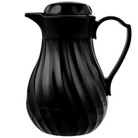 Vollrath 52122 SwirlServe 0.3 Liter Black Hot-N-Cold Beverage Server