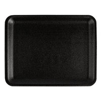 CKF 87834 (#4S) Black Foam Meat Tray 9 1/4 inch x 7 1/4 inch x 5/8 inch - 500/Case