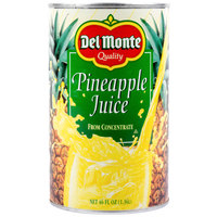 Del Monte 46 oz. Canned Pineapple Juice   - 12/Case