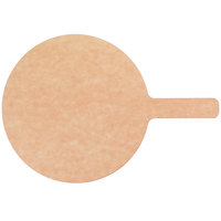 American Metalcraft MP813 8 inch Round Pressed Natural Pizza Peel with 5 inch Handle
