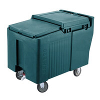 Cambro ICS175L192 Granite Green Sliding Lid Portable Ice Bin - 175 lb. Capacity
