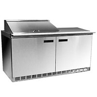 Delfield 4464N-12M 64 inch 2 Door Mega Top Refrigerated Sandwich Prep Table