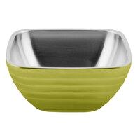 Vollrath 4763730 Double Wall Square Beehive 8.2 Qt. Serving Bowl - Lemon Lime