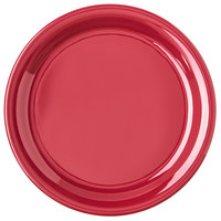 Carlisle 4300458 Durus 9 inch Roma Red Narrow Rim Melamine Plate - 24/Case