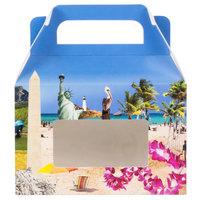 1-Piece 1/2 lb. Landscape Window Candy Box 5 3/8 inch x 2 inch x 3 1/2 inch   - 250/Case