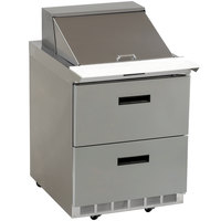 Delfield D4427N-12M 27 inch 2 Drawer Mega Top Refrigerated Sandwich Prep Table