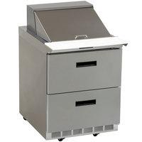 Delfield D4427N-12M 27 inch Mega Sandwich / Salad Prep Refrigerator - Two Drawers