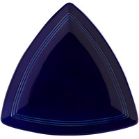Tuxton CCZ-1248 Concentrix 12 1/2 inch Cobalt Triangle China Plate - 6/Case