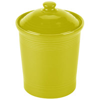 Homer Laughlin 572332 Fiesta Lemongrass Medium 2 Qt. Canister with Cover - 2/Case