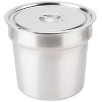 Star SSB-11 11 Qt. Stainless Steel Inset with Notched Cover