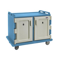 Cambro MDC1520S20401 Slate Blue Meal Delivery Cart 20 Tray
