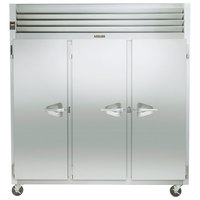 Traulsen G31011 77 inch G Series Three Section Solid Door Reach-In Freezer with Left / Left / Right Hinged Doors - 69 cu. ft.