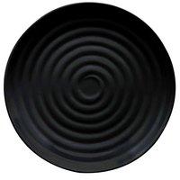 GET ML-83-BK Milano 12 1/2 inch Black Melamine Round Plate - 12/Pack