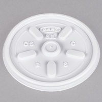 Dart 8JL White Vented Lid - 100/Pack