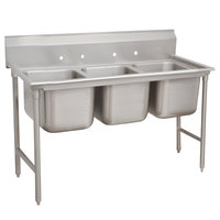 Advance Tabco 93-43-72 Regaline Three Compartment Stainless Steel Sink - 86 inch