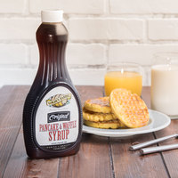 Golden Barrel Pancake and Waffle Syrup 24 oz. Bottle - 12/Case