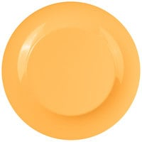 GET WP-12-TY Diamond Mardi Gras 12 inch Tropical Yellow Wide Rim Round Melamine Plate - 12/Case