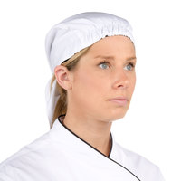Chef Revival H023WH White Poly-Cotton Chef Head Wrap / Scarf Hat